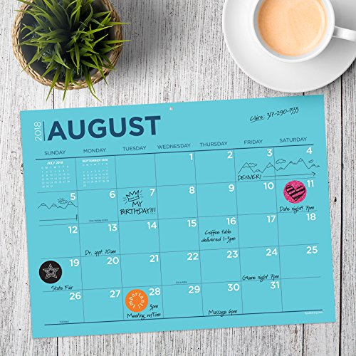 TF Publishing 19-8548A July 2018 - June 2019 Color Collection Mini Desk Pad Calendar, 12 x 9'', Multi Colored by TF Publishing (Image #3)