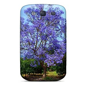 Defender Case For Galaxy S3, Blue Tree Pattern