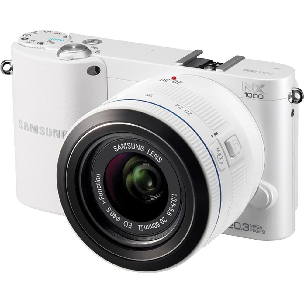 Samsung nx1000 20.3メガピクセルミラーレスカメラレンズキットで(ボディ) – 20 mm – 50 mm – ホワイト   B007XJG4F6
