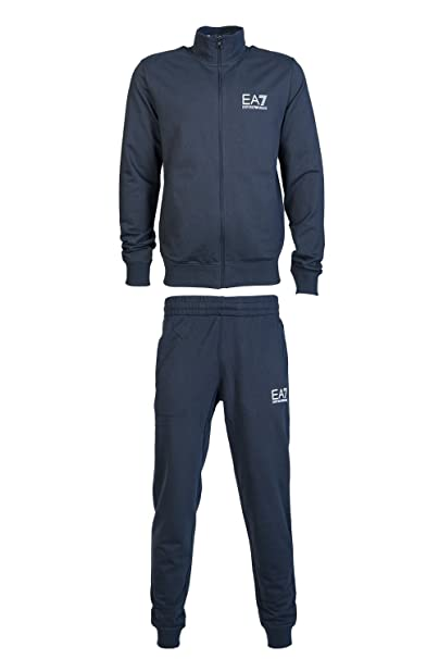 uomo EA7 Armani 6ypv51 felpa ea 7 pantaloni Emporio nero blu Tuta pnwqPdBx8p
