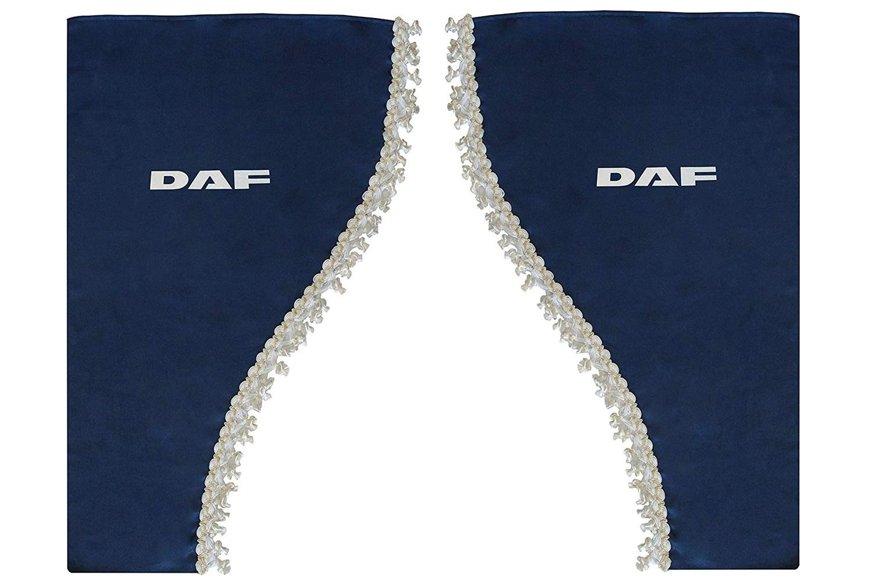 Set di 2 tende laterali in raso con nappe bianche per camion serie 105 106 95 CF XF Fa FT LF colore: Blu AutoCommerse