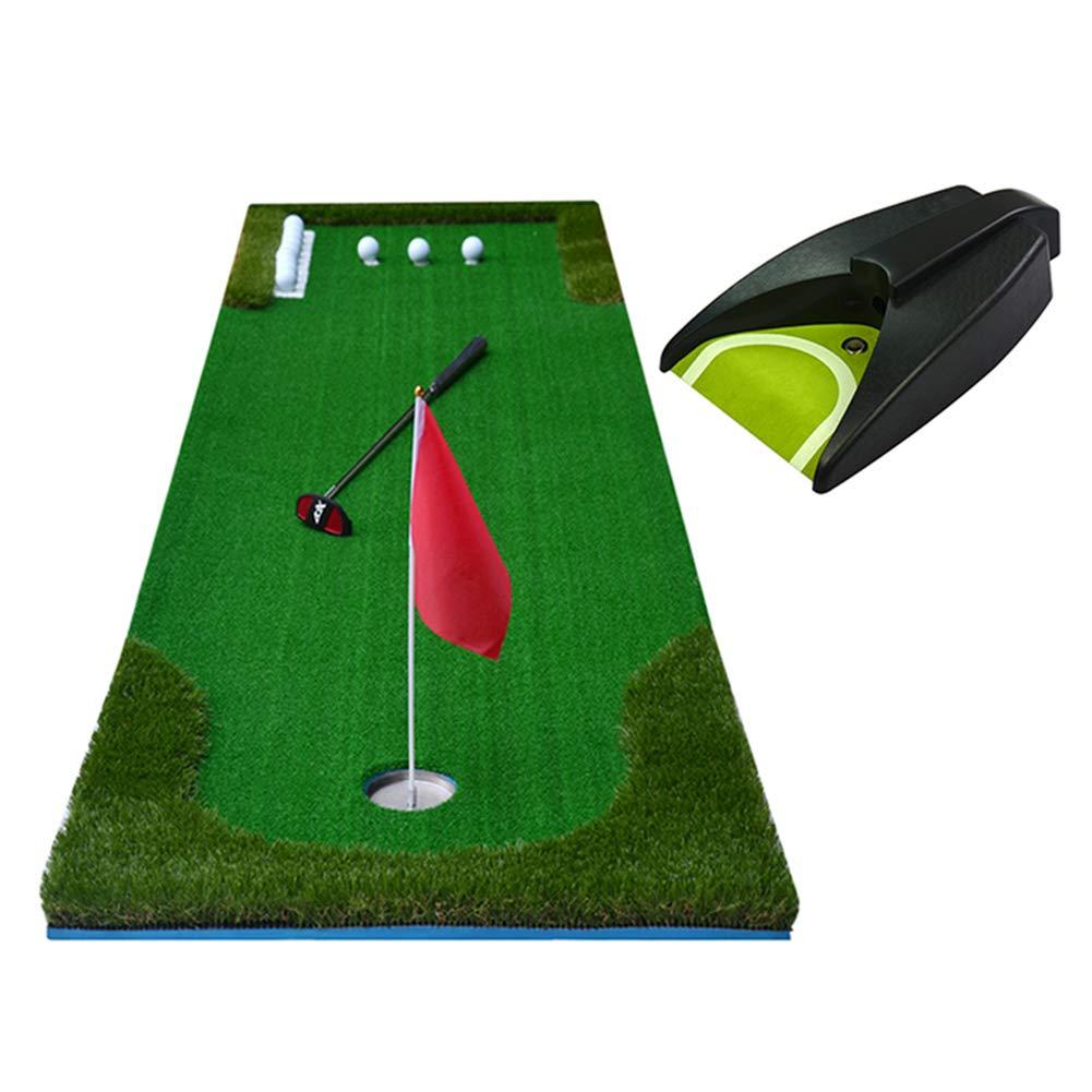 パッティングマット ゴルフパットトレーナーマット自動リターンボール、屋内/屋外9.8フィートポータブルプロフェッショナルミニゴルフトレーナーパットグリーン (サイズ さいず : 300cm×75cm) 300cm×75cm  B07L7Z22JP