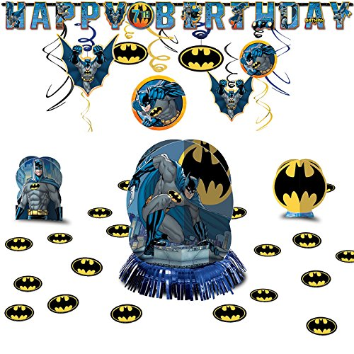 DC Batman Hanging Birthday Party Decoration Pack Kit Tableware