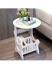 end table for living room. Bedside End Table Nightstand Chair Side Coffee  Modern European Style White Round Home Furniture Living Room Tables Amazon com