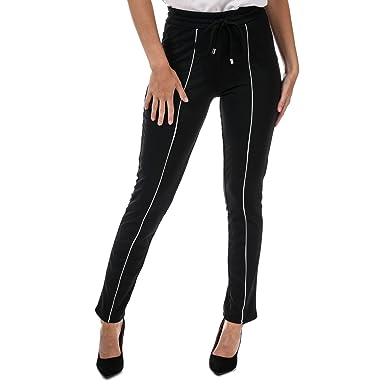 Brave Soul Pantalon de jogging Contrast Pipe Detail Noir Femme ... 2a13126ac144