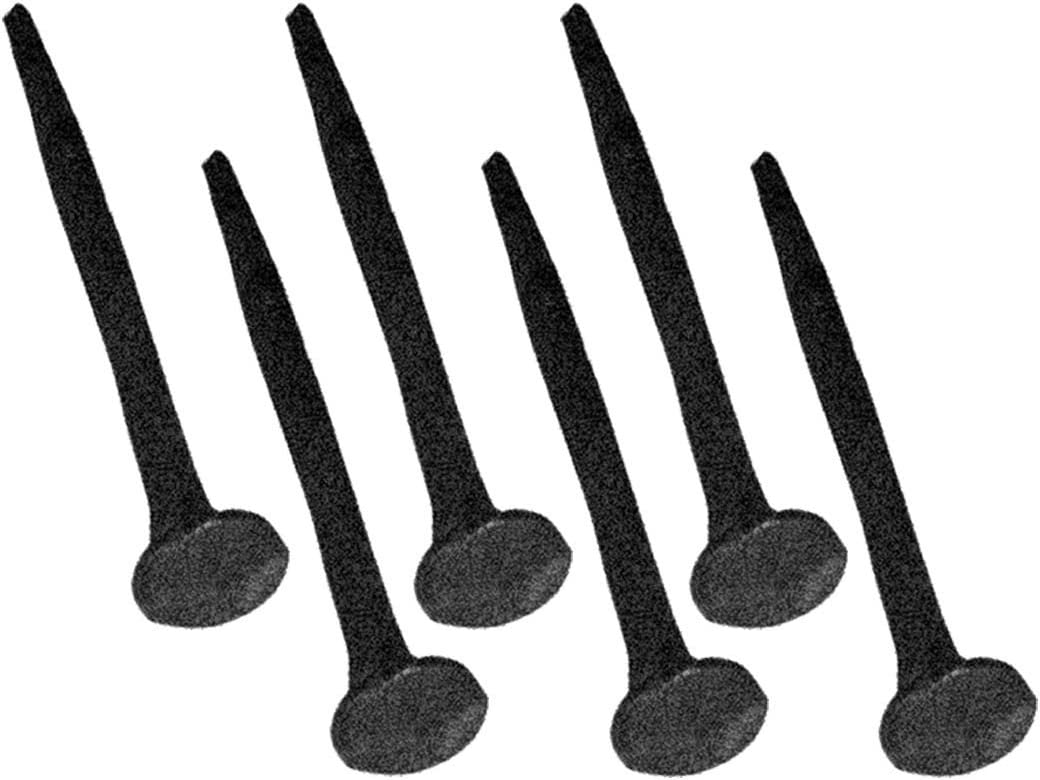 Square Clavos Nails Black Wrought Iron Set of 6