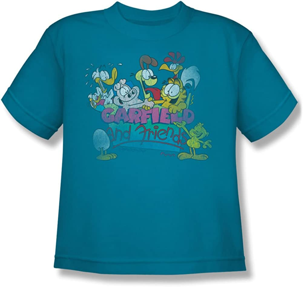 Garfield - and Friends Youth T-Shirt in Turquoise