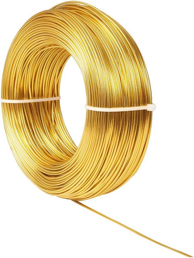 100m of 1.5mm Golden Aluminum Craft Wire NBEADS 109 Yards