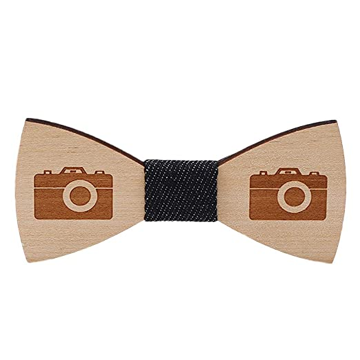 Fashion Mens Wooden Bow Tie Accessory Cufflinks Set Christmas Gifts Wood Bowtie