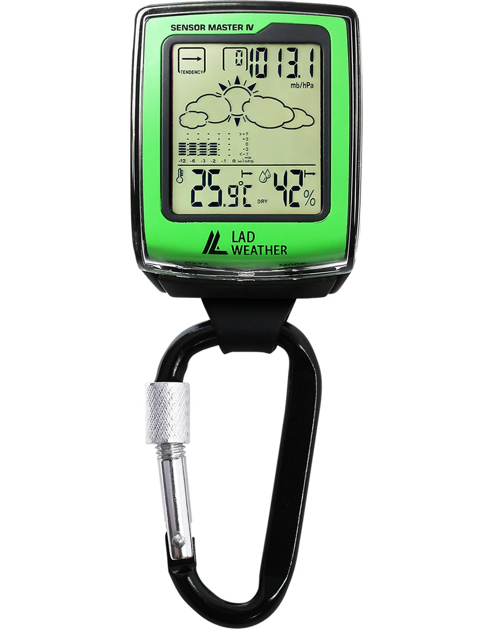 [LAD Weather] Outdoor Altimeter Barometer Thermometer Hygrometer Weather Forecast Carabiner Watch lad036