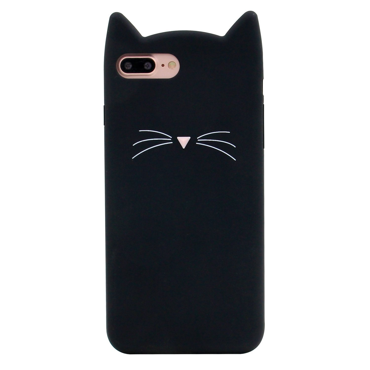 DiDicose Huawei P10 Plus Case,3D Cartoon Animal Black Whiskers Cat Kitty Silicone Rubber Phone Case Cover for Huawei P10 Plus