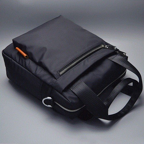 ZHUDJ Man Portable Shoulder Bag Briefcase Oxford Spinning Vertical Simple Retro British Business Casual,Black black
