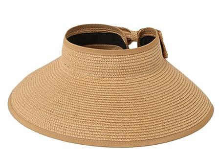 12baddde Kanggest Sun Hat Summer Beach Sun Hat Wide Brim Cap Empty Top Hat Bowknot Sun  Visor