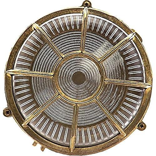 Hamburg Applique Dextérieur Hublot Lampe Ovale En Laiton