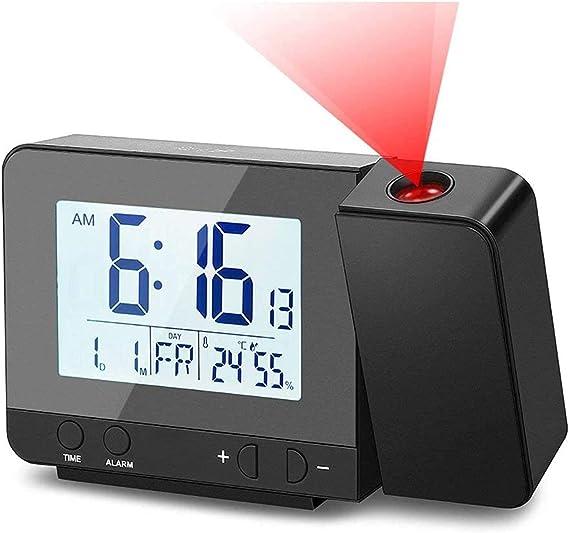 Deofde Despertador Proyector, Reloj Despertador Digital con