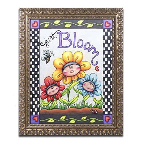 Just Bloom by Jennifer Nilsson, Gold Ornate Frame 16x20-Inch