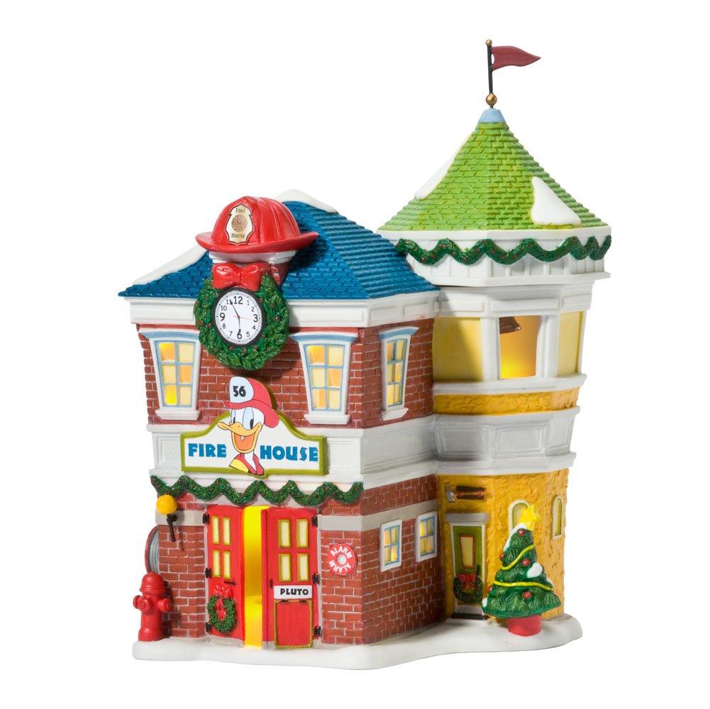 Amazon.com: Department 56 Disney Village Lit House, Donald's Fire ...