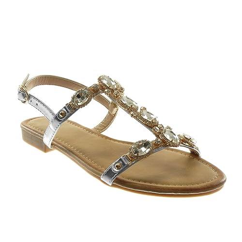 Angkorly Lanière Femme Mode Chaussure Sandale Salomés Cheville qGSpjUzVLM