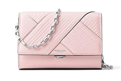 0d16580c6c3b Image Unavailable. Image not available for. Color  Michael Kors Yasmeen  Small Leather Clutch Shoulder Bag ...