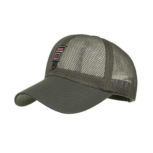 6fbfd7c9dbca Luca Fashion Women Ponycaps Men Adjustable Summer Solid Mesh Holes Cap Hats  Baseball Hat (Army Green) at Amazon Women s Clothing store