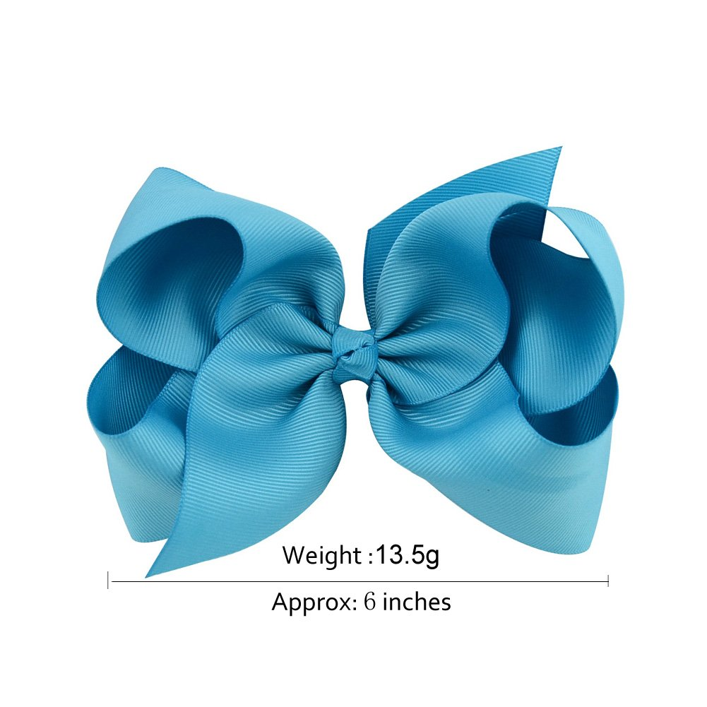 6 Inch Large Baby Hair Bows Barrettes Clip Holders Accessories For Toddler Girls 15 pcs by YHXX YLEN (Image #4)