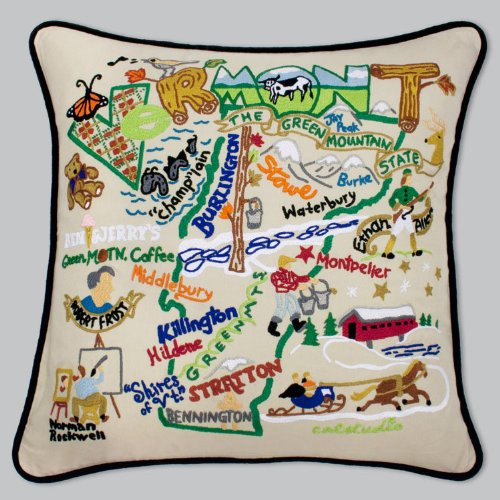 Catstudio Vermont Pillow * Original Geography Collection by Catstudio Embroidered Pillow
