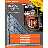 Best Tape Measure With Carpenter Pencils - Swanson Tool S0101SPT 2-Speed Square 1-16-Feet Savage Grip Review