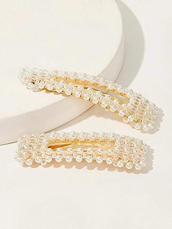 Quality Hair Bobble pearl Facet Bead Vintage Elastics