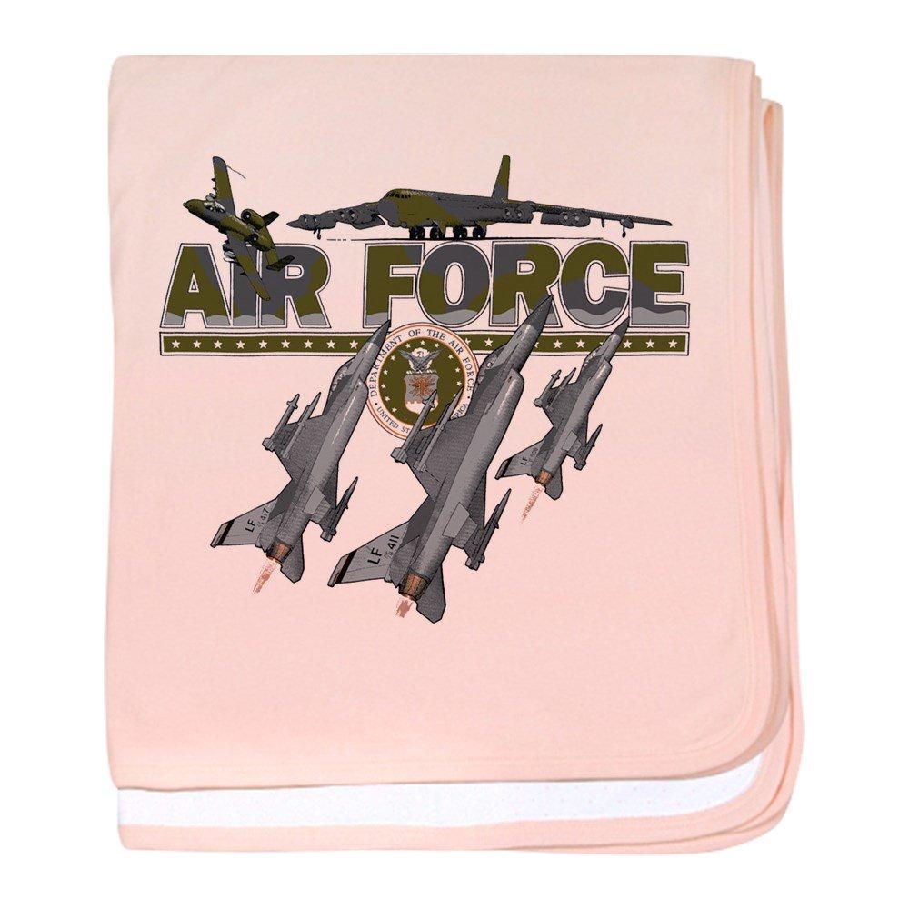 Royal Lion Baby Blanket US Air Force Planes Fighter Jets - Petal Pink