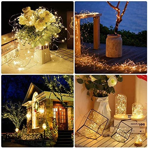 LE String Lights 33ft with 100 LEDs, Waterproof Copper Wire Lights, Outdoor & Indoor Decorative Fairy Lights for Bedroom, Patio, Garden, Party, ...