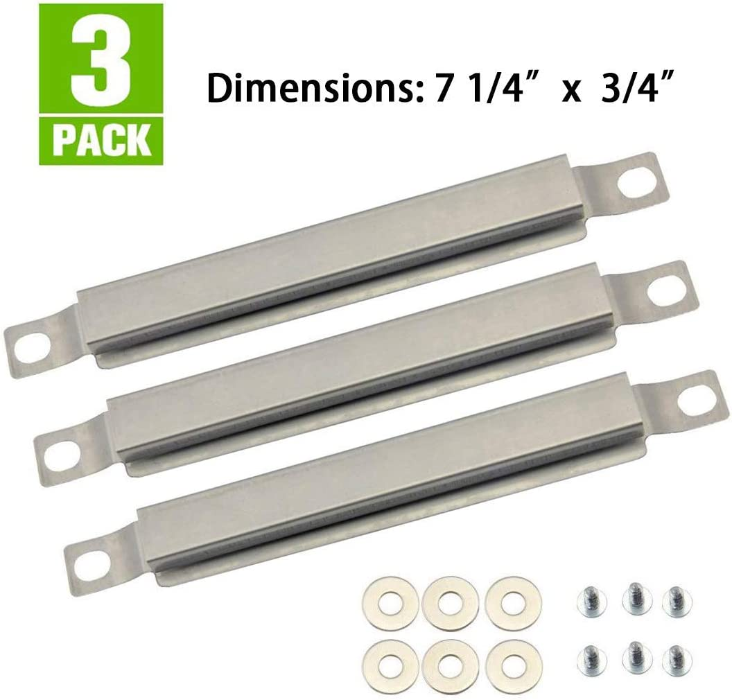 720-0864 720-0888N BBQ-Element Grill Heat Shields and Grill Burners Replacement Parts for Nexgrill 720-0830H 4 Pack Burner Tubes /& Heat Plates for Members Mark 720-0882D Grill Models 720-0888