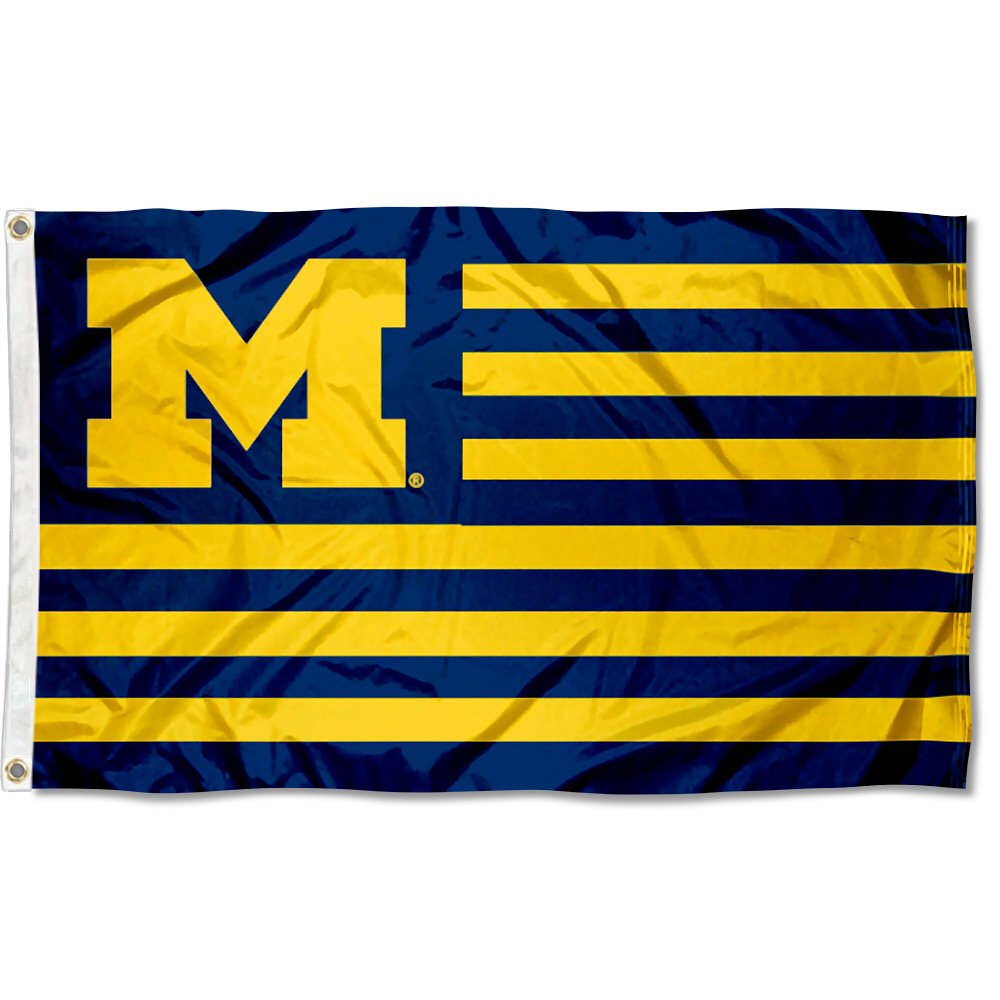 Michigan Wolverines Stars and Stripes Nation Flag B07CZMXMPV 17773