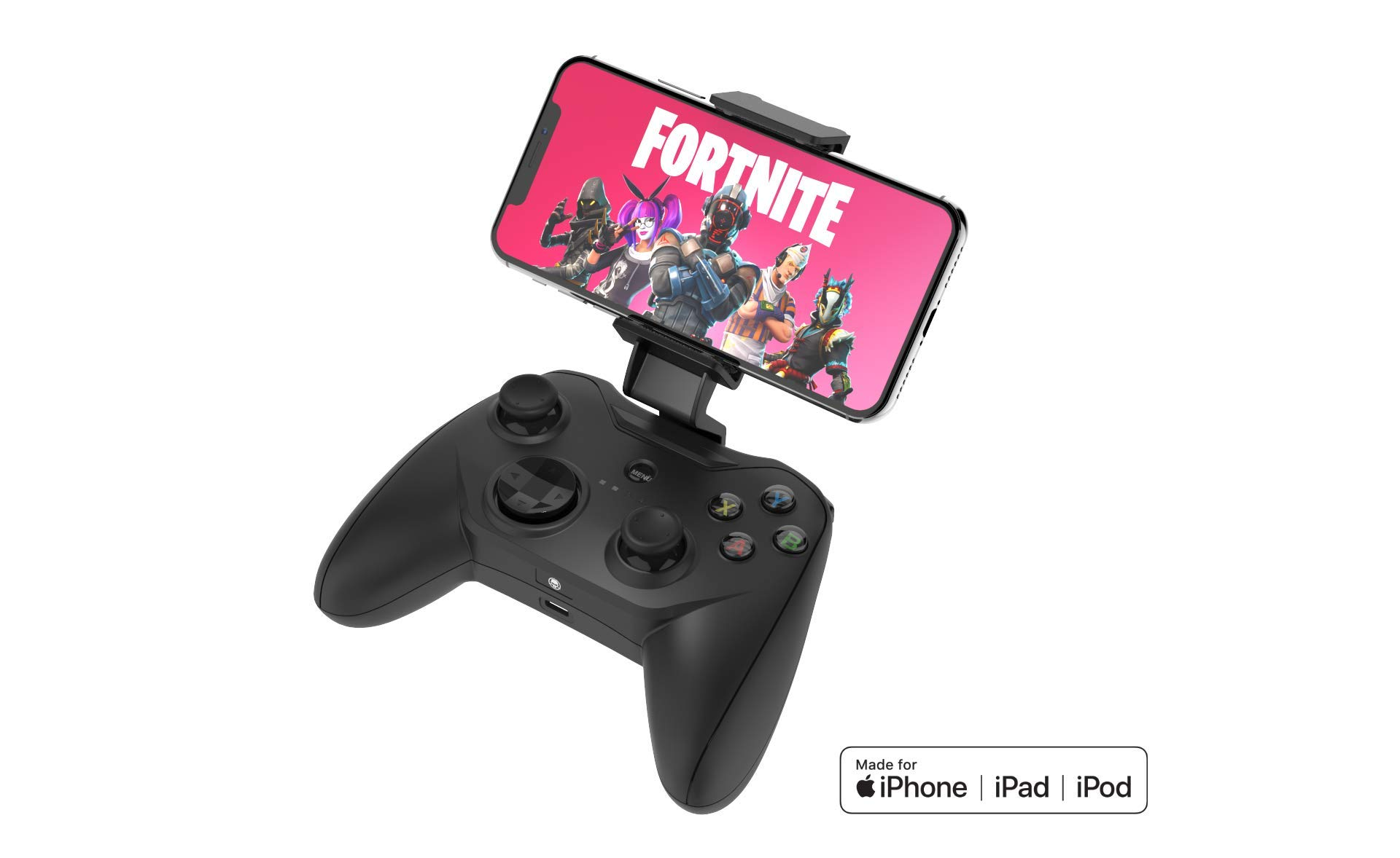 Rotor Riot Mobile iPhone Controller & Drone Controller - Wired Controller with L3 + R3 Compatibility, Power Pass Though Charging, Improved 8 Way D-Pad, redesigned ZeroG Mobile Device Holder