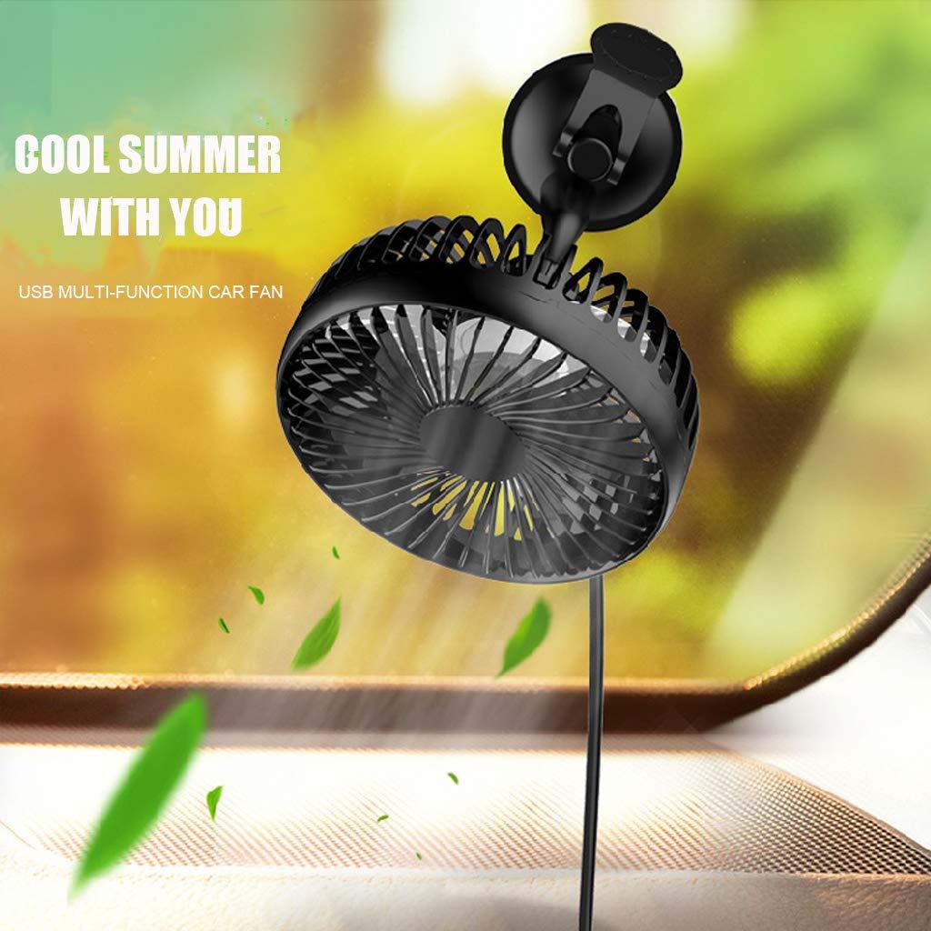 Meatyhjk Suction Cup Single Head 5.5 Inch Car Fan 12V24V Universal Large Wind Three Speed Control USB Car Fan