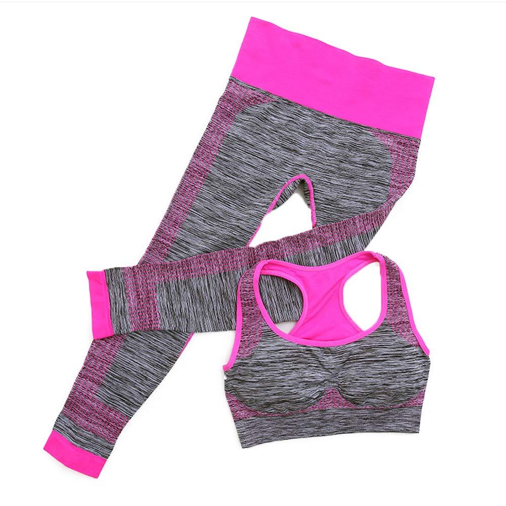Runola Women Sports Bra Pants Suit Yoga Tracksuit Leggings Sportswear