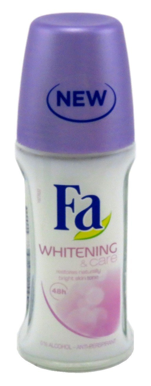 Fa Deodorant 1.7 Ounce Roll-On Whitening & Care 48 Hour (50ml) (3 Pack)
