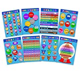 kindergarten charts - Laminated Educational Posters for Toddlers & Kids - Preschool & Kindergarten Children Learning Kit - Set of 8 - Alphabet - Numbers - Days of the Week - Months - Colors - Shapes - Feelings Chart