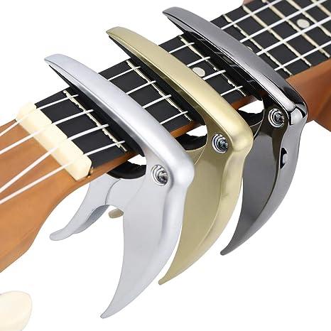 Cejilla para guitarra acústica y eléctrica Hidear, hecha de aleación de zinc y almohadilla de