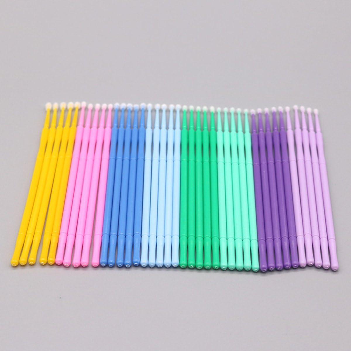 Heallily 100 Unids Micro aplicador desechable cepilla la varita de la esponja para la extensi/ón de la pesta/ña maquillaje dental belleza azul cielo