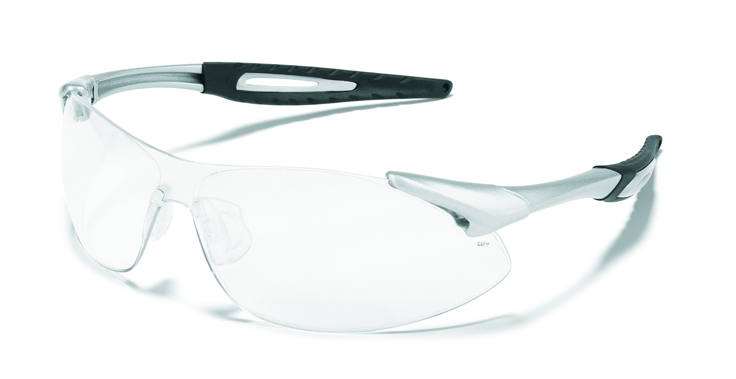 MCR Safety IA120AF Inertia Polycarbonate Safety Glasses with Silver Frame and Clear Anti Fog Lens