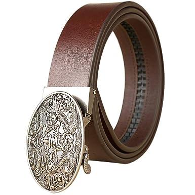 AZ- Cinturón Hombre/trinquete Automático Cinturón Marrón Negro ...
