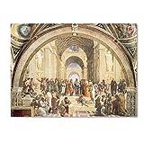 School of Athens by Raphael, 35x47-Inch Canvas Wall Art