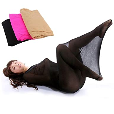 34691ab36ad GDpowerseller Full Body Men Women Pantyhose Tights Stocking Lingerie  Stockings Sleeping Bag (Black)