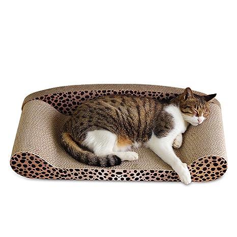 Baffect Alfombra rascadora para el Gato en Forma de sofá, Tabla rascadora para Gatos con