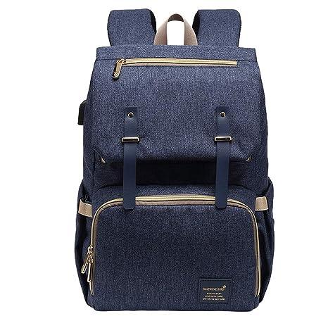 La bolsa de pañales del bebé con USB, mochila para cambiar ...