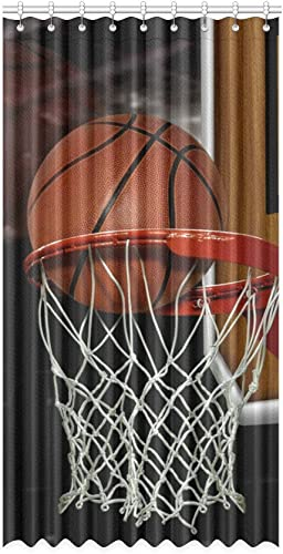 Unique Debora Customize Home Decorator Window Curtain Blackout Curtains 100 Polyester Basketball Shot