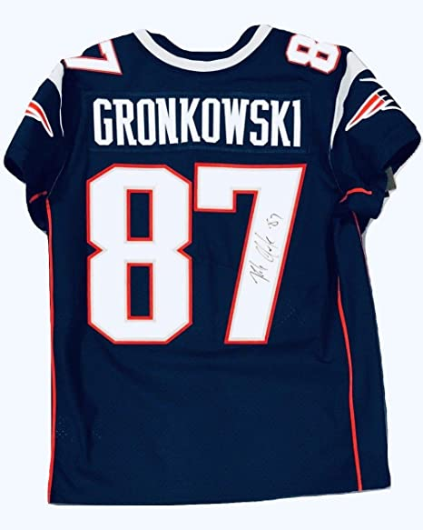 02808f19d Rob Gronkowski New England Patriots Signed Autographed Elite Jersey ...