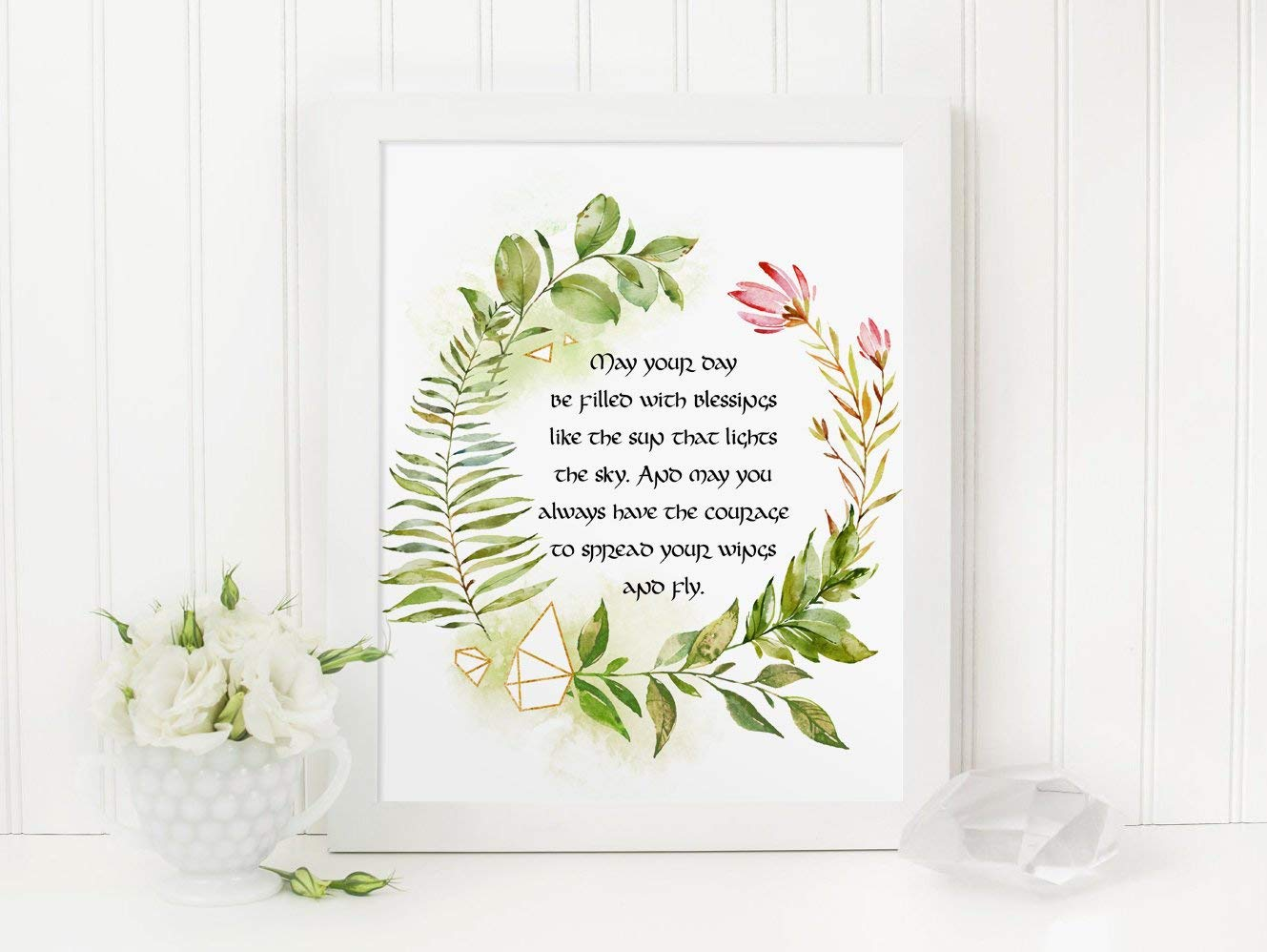 photograph relating to Printable Irish Blessing known as : MalertaART Irish Blessing Printable Might Your Working day