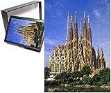 Photo Jigsaw Puzzle of Spain, Barcelona. Sagrada Familia Cathedral, designed by Antoni Gaudi