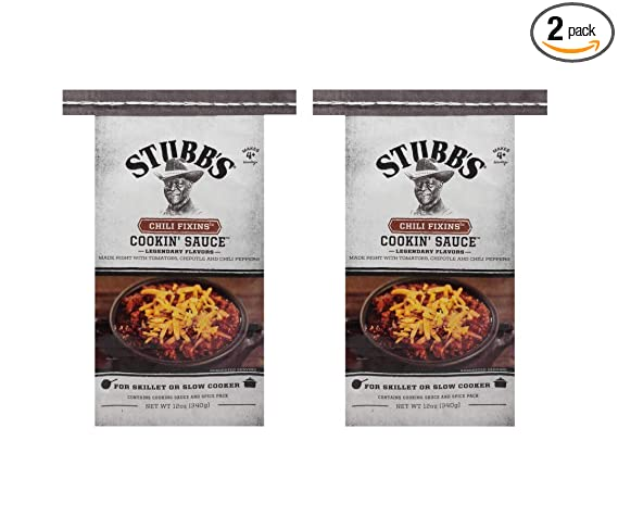 Amazon Com Stubb S Chili Fixins Cookin Sauce 12 Oz Pack Of 2 Grocery Gourmet Food